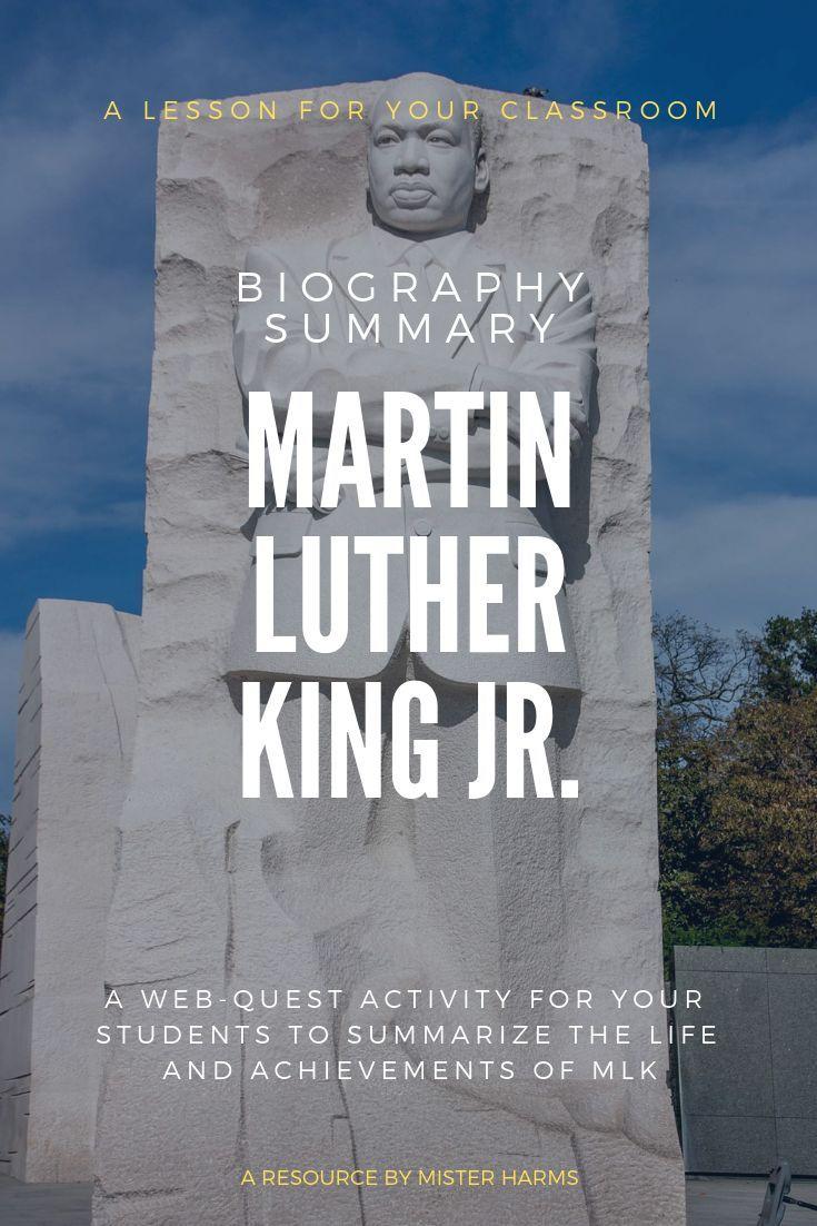 MLK Day: Martin Luther King Jr Activity, Webquest ...