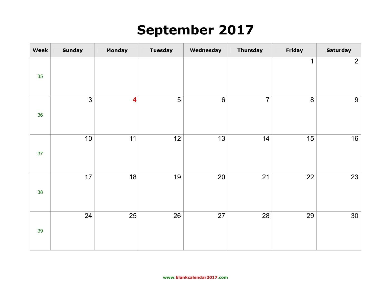 September 2017 Calendar Http Socialebuzz Com September 2017