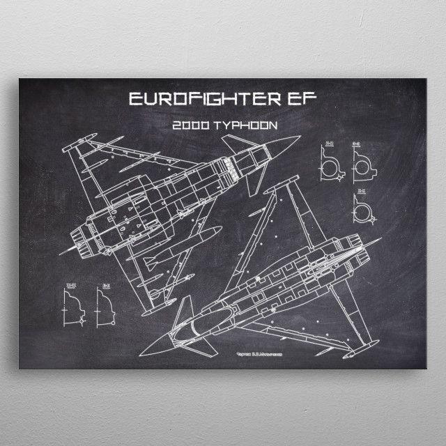 EUROFIGHTER EF by FARKI15 DESIGN | metal posters - Displate | Displate thumbnail