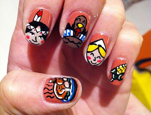 9 Easy Thanksgiving Nail Art Designs With Images Thanksgiving