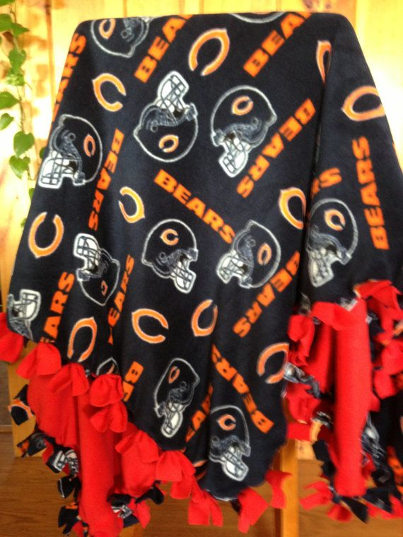 half off ba5d0 af820 Hand Tied Fleece Chicago Bears Blanket/Throw by AbbieJude on ...