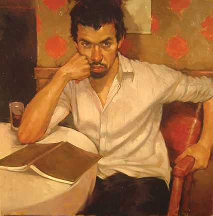 The Poet (Oil on Panel), Joseph Lorusso