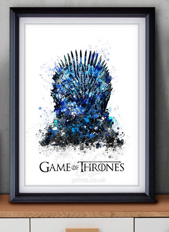 Game Of Thrones Iron Throne Watercolor Art Poster Print Game Of