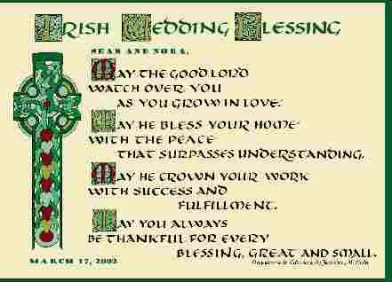 Irish Celtic Wedding Blessing Personalized Written Designed By Jacqueline Shuler We Are Honored To Sell This On Our Website