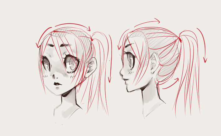 Anime Ponytail Hairstyles Straightforward Tips How To Draw