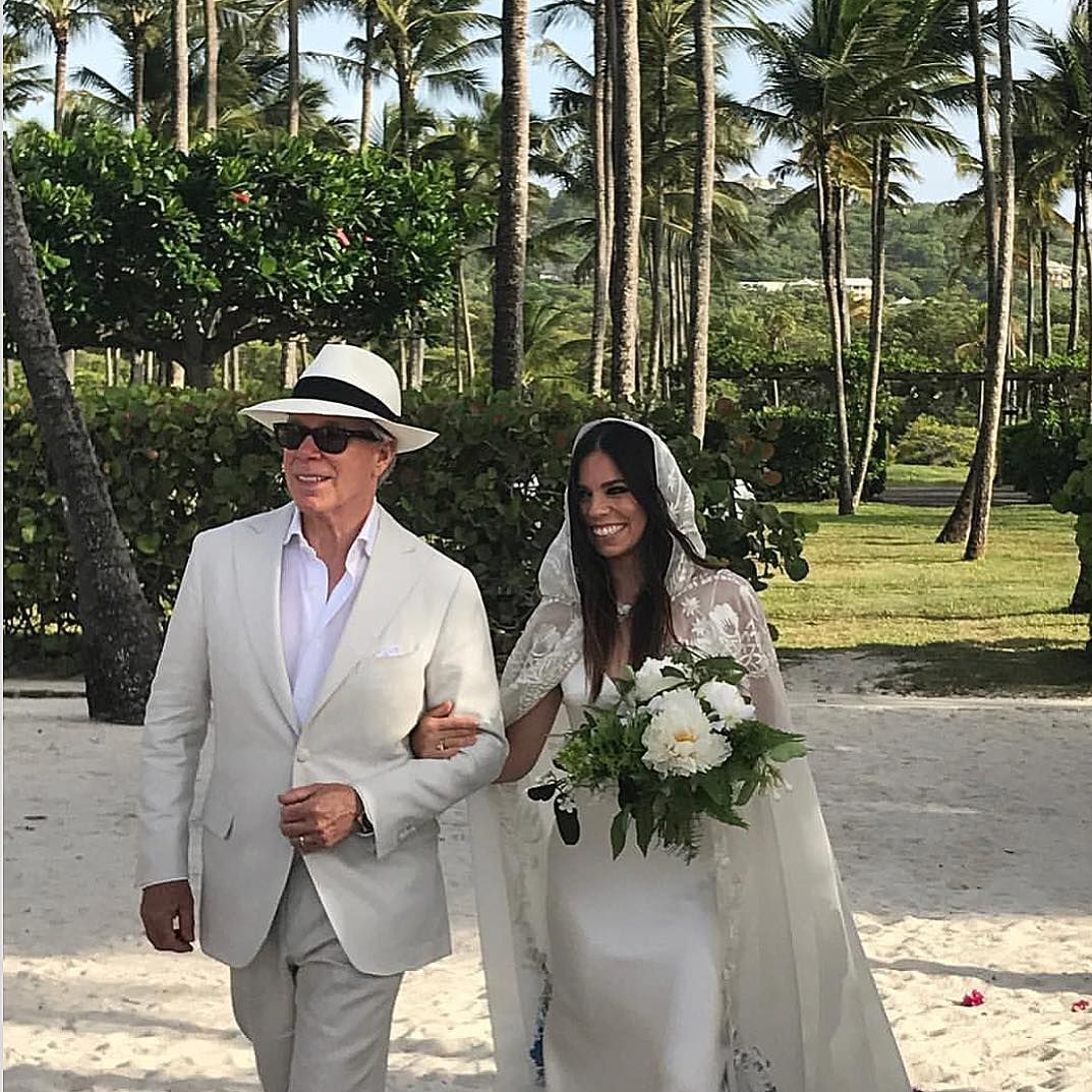 You have to see the custom wedding dress tommy hilfiger created for