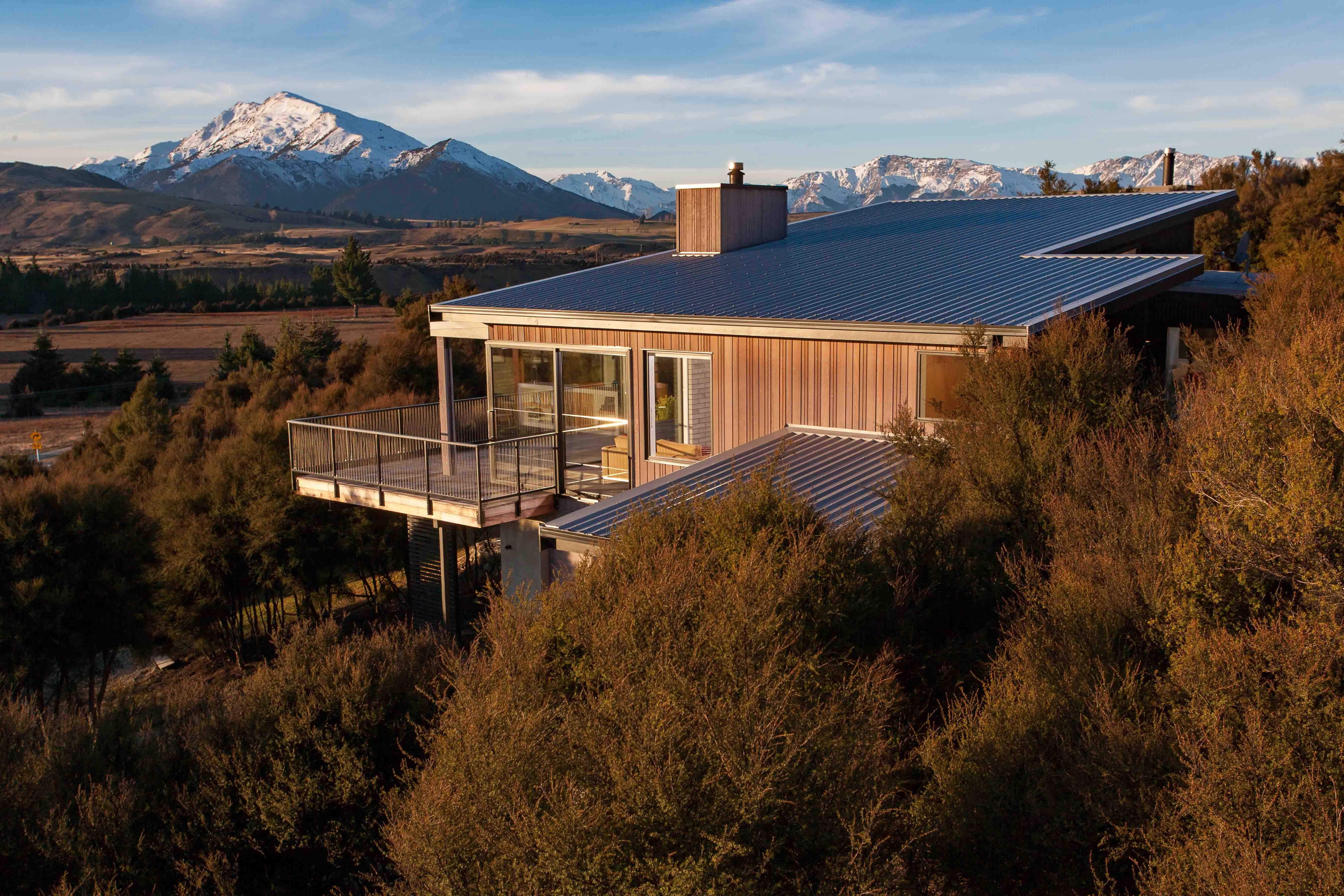 Best Colorsteel® Sandstone Grey Roofing Wanaka House 400 x 300
