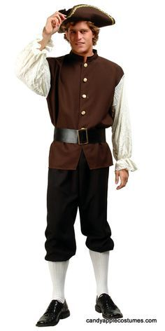8eb7cf49dcc Adult Colonial Man Costume - Candy Apple Costumes - President s Day Costumes