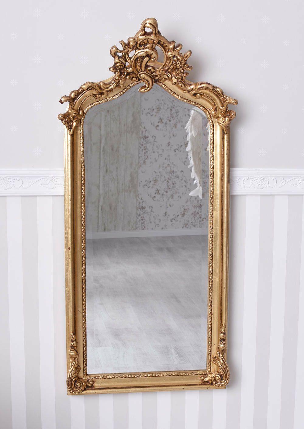 Wandspiegel Gold Spiegel Rokoko Holzspiegel Prunkspiegel Barock