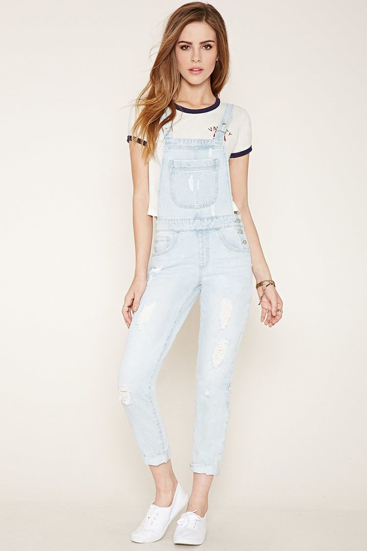 2de00a603bb Distressed Denim Overalls - Women - Dresses - 2000153630 - Forever 21 EU  English