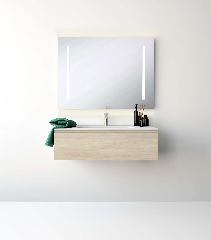 UNIBAÑO-Pack106-Baño Mueble de baño con encimera de 100cm y mueble ...