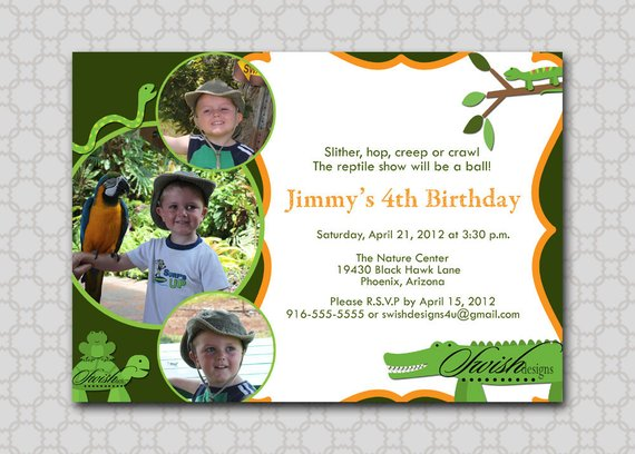 Free printable reptile invitation templates | free party.