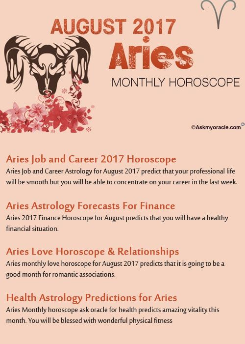 Aries Monthly Horoscope For August 2017 | Calligrahy/Lettering