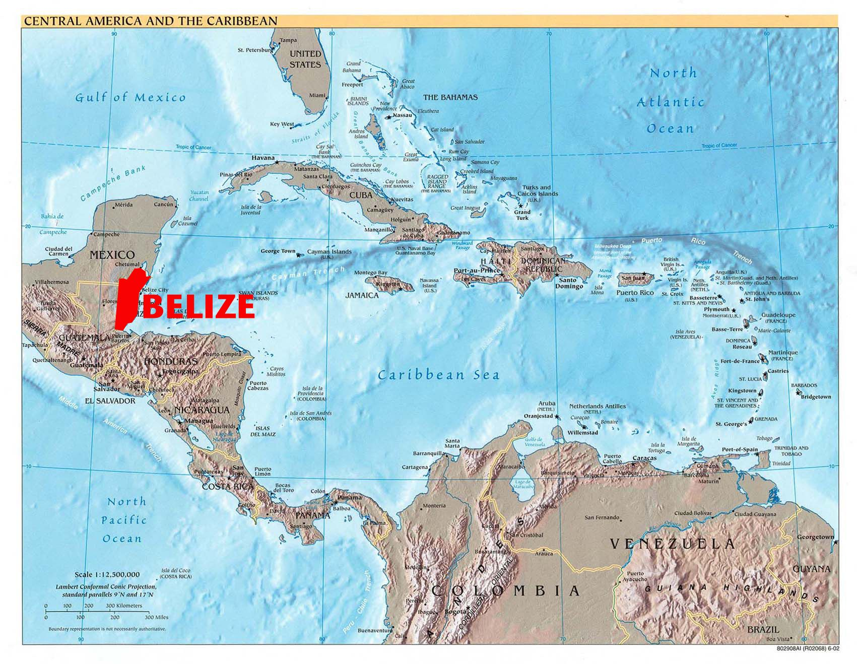 Where is Belize Located Geography and Map Of Belize Belize