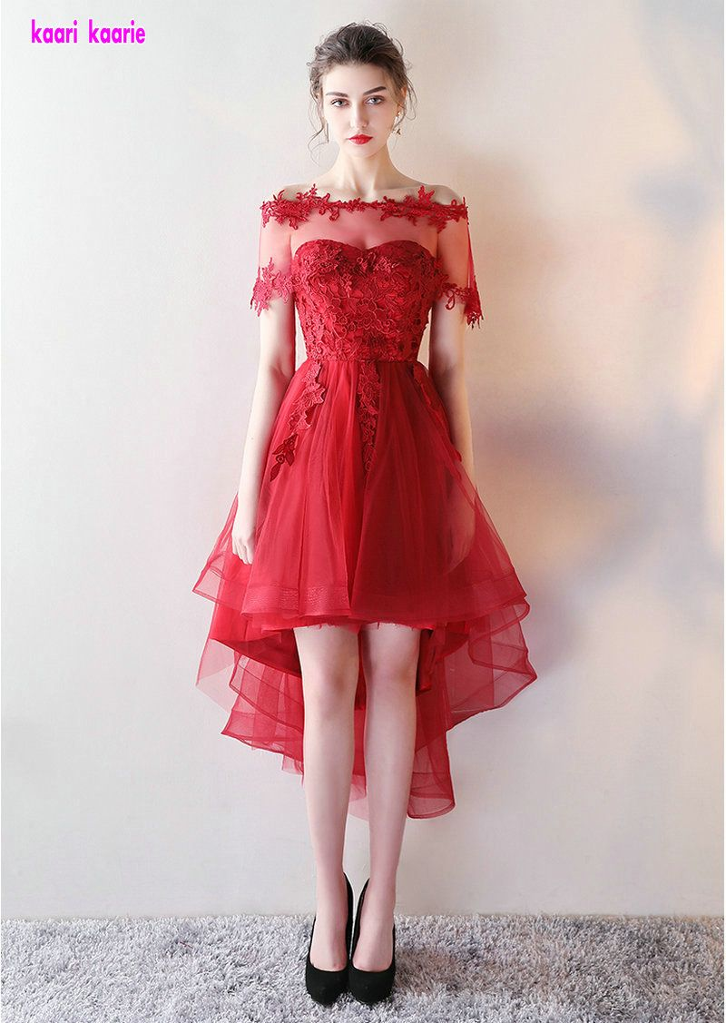 Click to buy ucuc elegant red prom dresses short sexy sweetheart