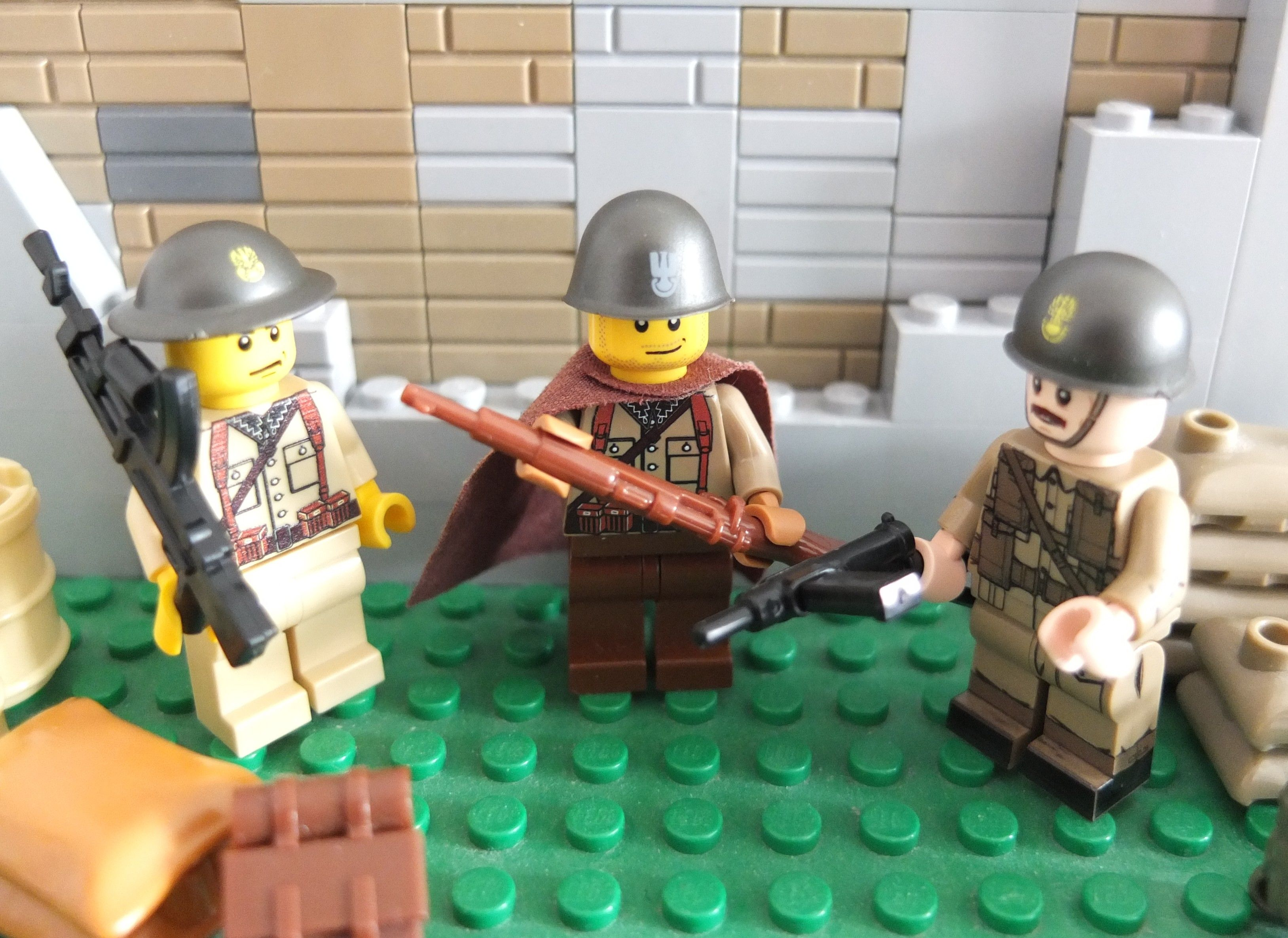 21Pcs//set WW2 Military Soldiers Germany US Britain Japan Army Builder minifigs