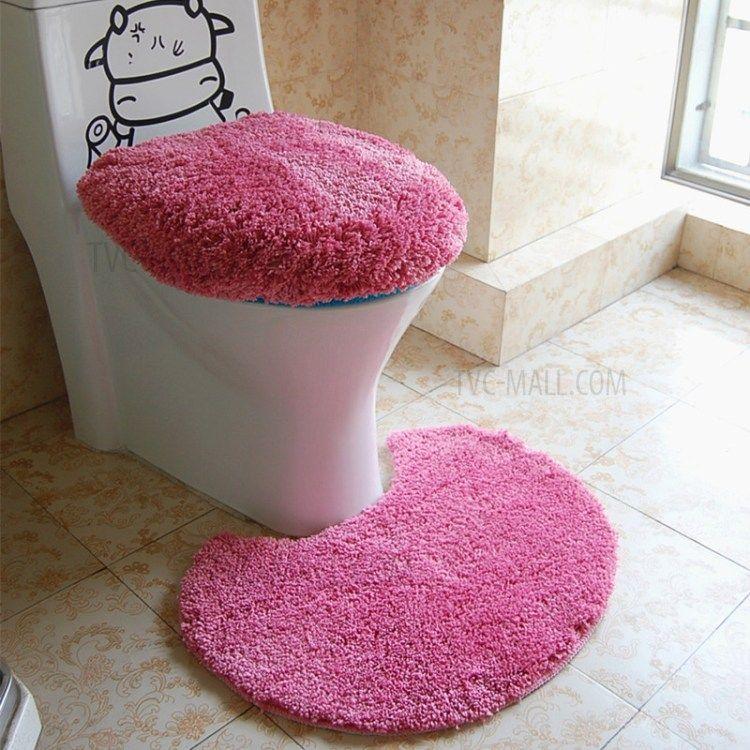 Purchased Microfiber 3Piece Bathroom Rug Set  Rose Cool 3 Piece Bathroom Rug Sets Inspiration