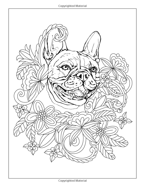 Amazon Com Faithful French Bulldogs A Frenchie Dog Colouring Book For Adults Paws For Thought Volume 5 9 Dog Coloring Book French Bulldog Coloring Books