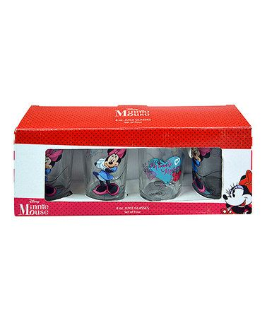 Look what I found on #zulily! Minnie Mouse Glasses - Set of Four #zulilyfinds