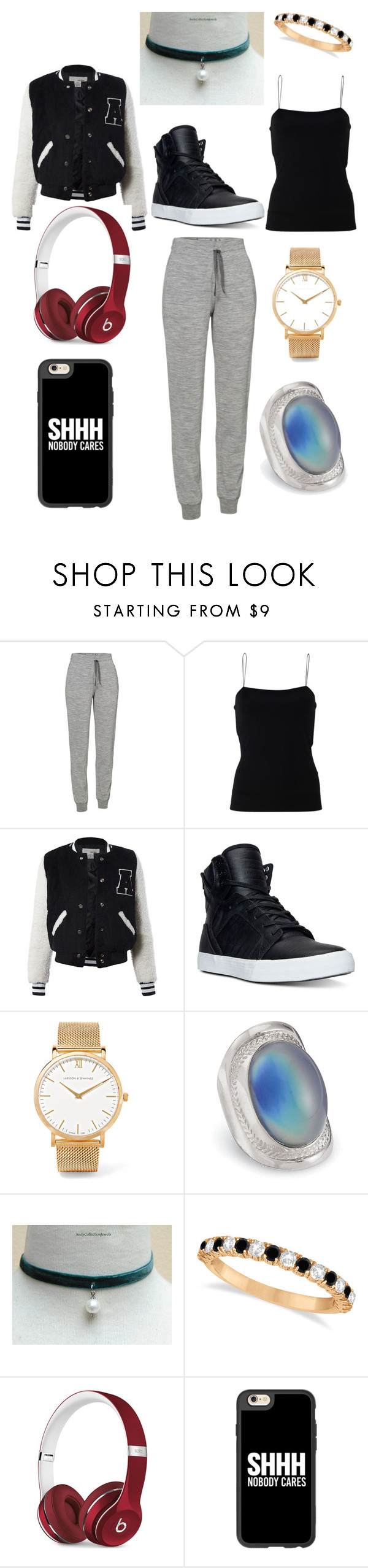"""""""Too Lazy"""" by ashlynn-sofia ❤ liked on Polyvore featuring Icebreaker, T By Alexander Wang, Sans Souci, Supra, Larsson & Jennings, Allurez, Beats by Dr. Dre and Casetify"""