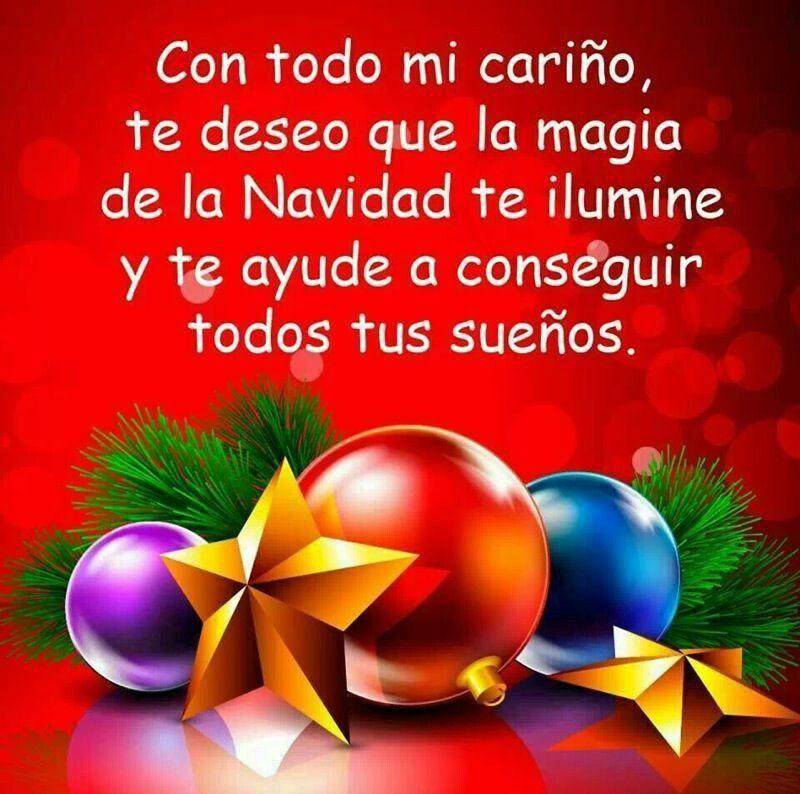 La Magia De La Navidad Merry Christmas Images Christmas Bulbs Christmas Greetings