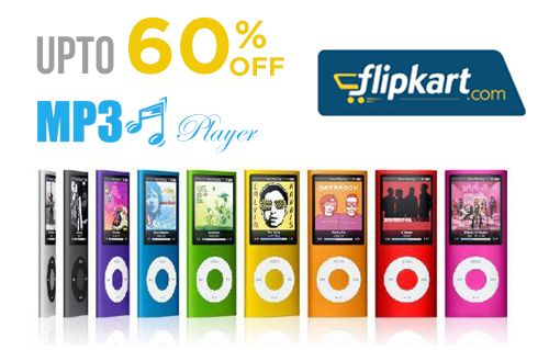 Get a #discount upto 60% on branded #MP3Players like Sony, Apple, Philips and Transcend at #Flipkart.   Buy: http://www.grabon.in/coupon-codes/?cid=1001