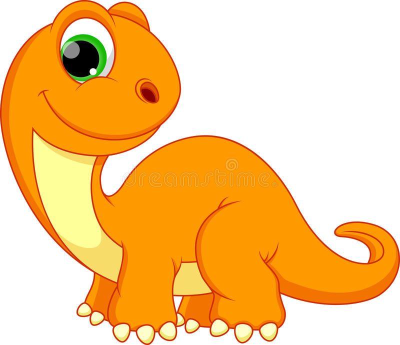 Dinosaur Cartoon Illustration Of Happy Dinosaur Cartoon Spon
