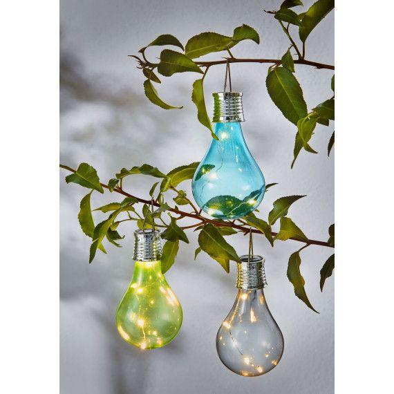 Solarleuchtenset 3-tlg Bulb #gartendeko #gartengestaltung #garten - solarleuchten garten antik