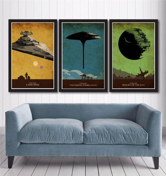 Star Wars trilogía Poster Set incluyen: ▻ Impreso en alta calidad ...