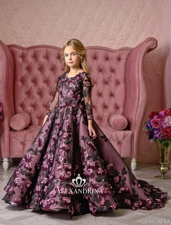 94efce3873310 Luxury Royal Flower Girl Dress - Birthday Wedding Party Holiday ...