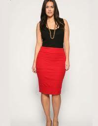 2a8ef12f235 Faldas de tubo otoño gorditas 7 | super | Faldas rojas, Faldas tubo ...