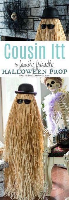 Cousin Itt {Halloween prop} Easy and budget friendly DIY Halloween