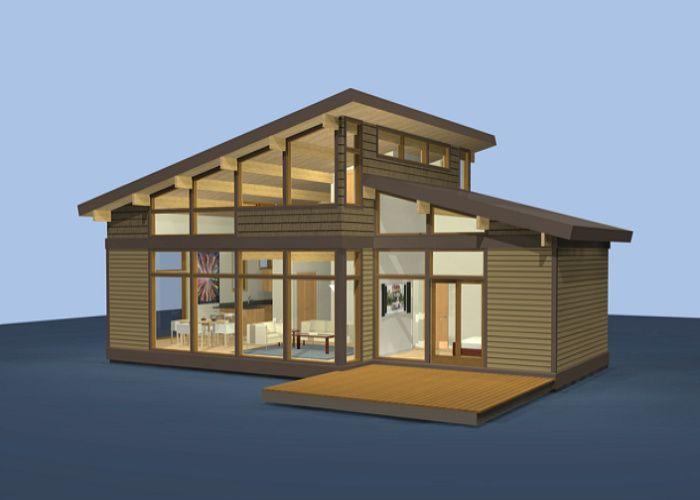 Dise o de casas de campo construidas con madera t pica - Casas con estructura de madera ...
