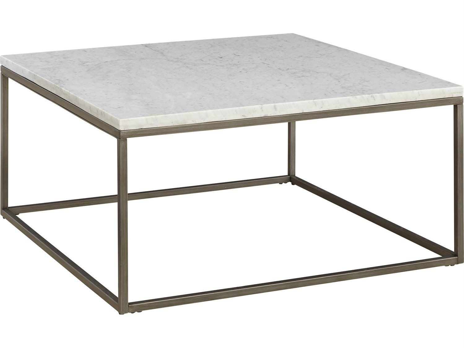 Casana Alana White Marble Natural Steel 36 Square Coffee Table Coffee Table Furniture Coffee Table Metal Frame Side Coffee Table