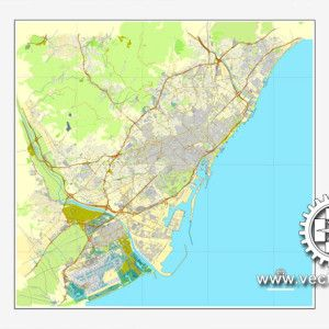 Barcelona spain printable vector street city plan map full barcelona spain printable vector street city plan map full editable adobe pdf gumiabroncs Image collections