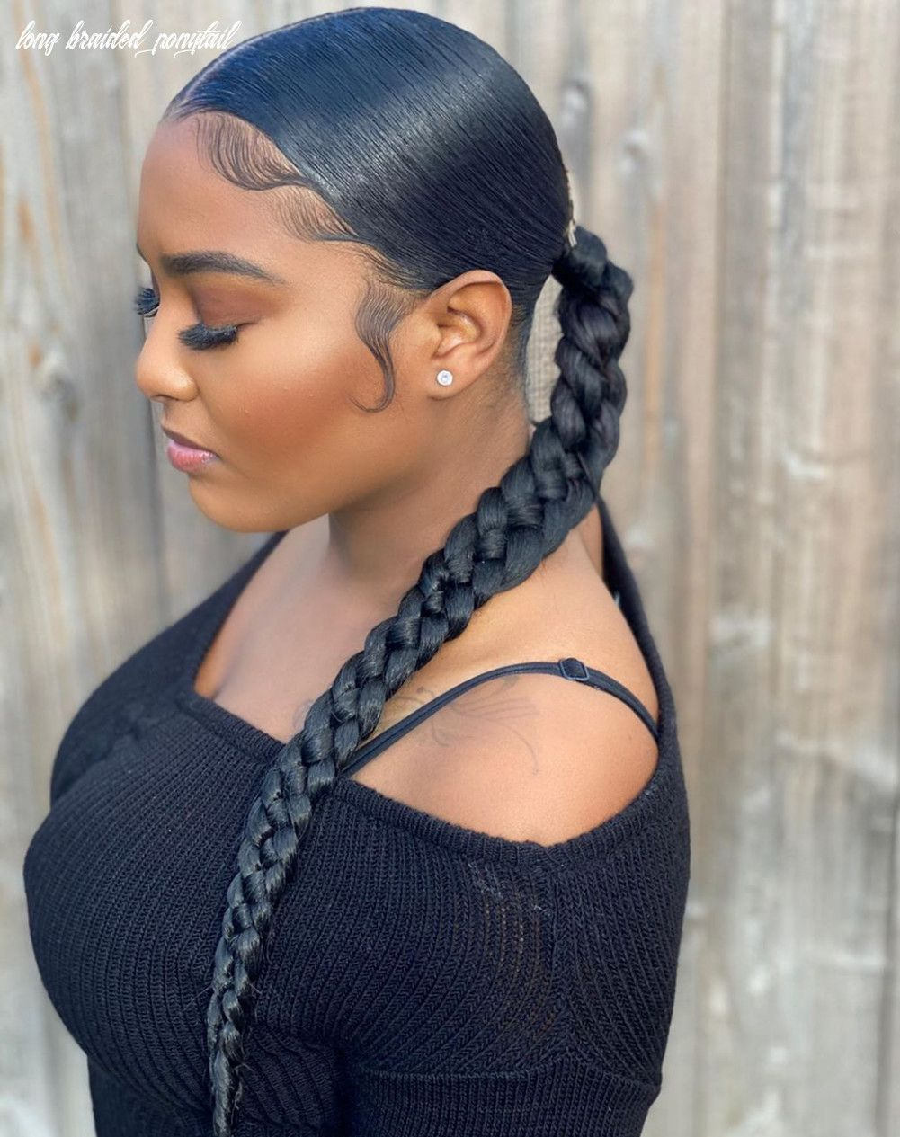 50++ Long braid ponytail with braiding hair inspirations