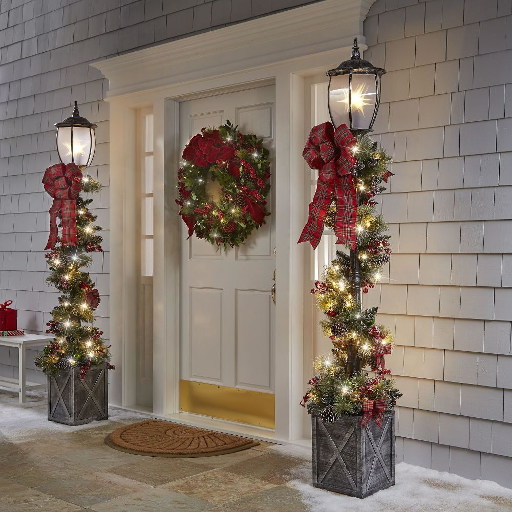 The 7 Dickensian Lamppost2 Outdoor Christmas Decorations Christmas Porch Decor Christmas Lamp