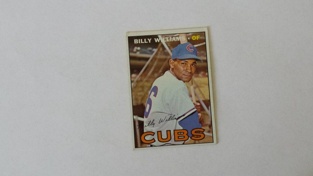 1967 topps billy williams single baseball card billy