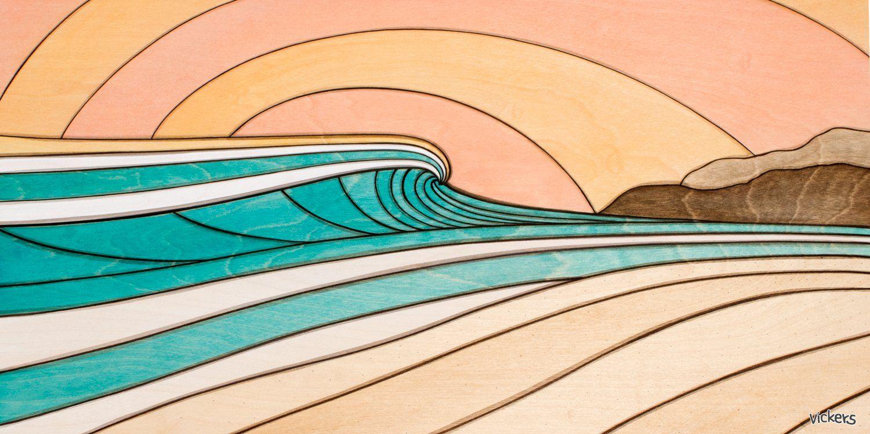 Dreamy in 2020 art wave art reclaimed wood art