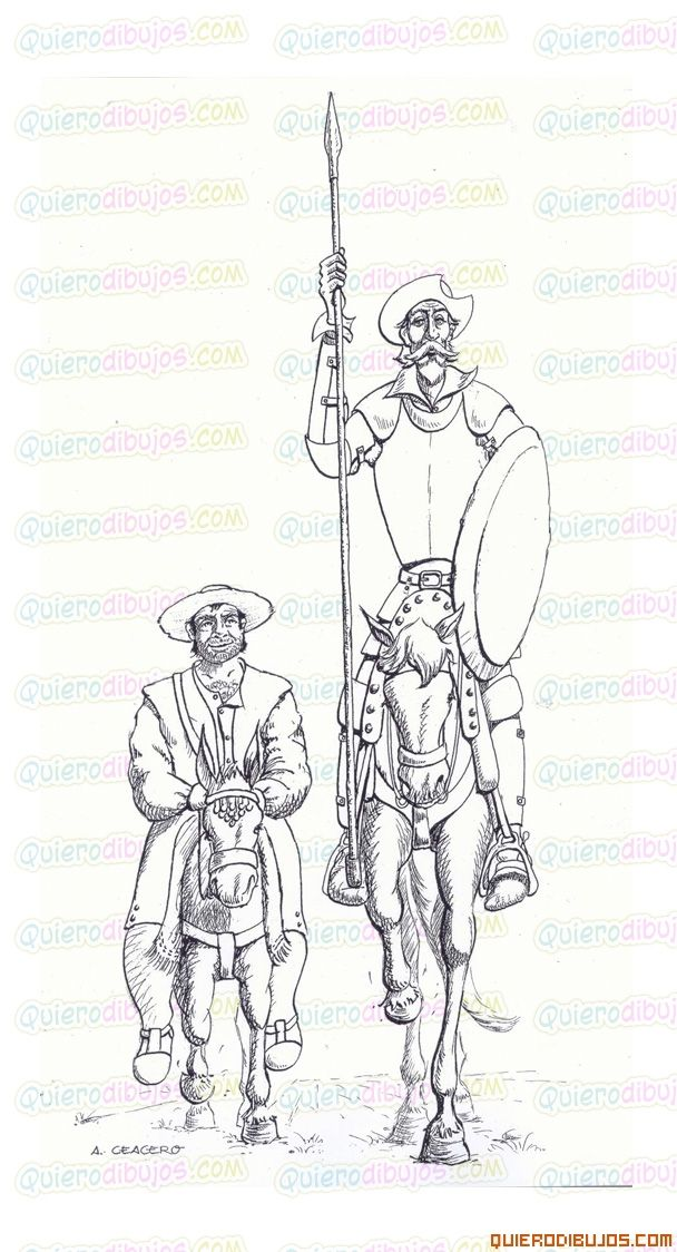 Dibujos Quijote Sancho Panza Don Quijote Dibujo Don Quijote Quijote De La Mancha