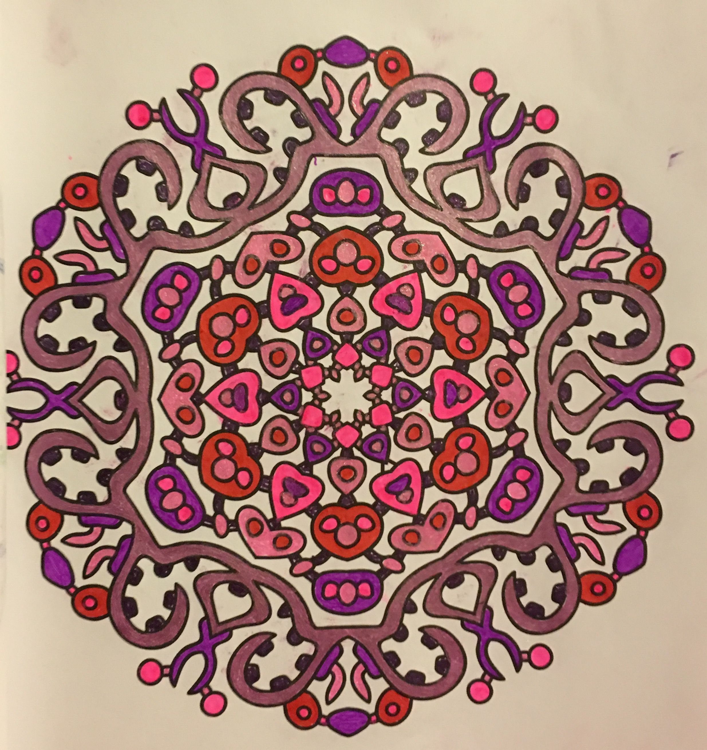 Mandala,colored with Metalic and glidder gel pens.by Judy Soto | My ...