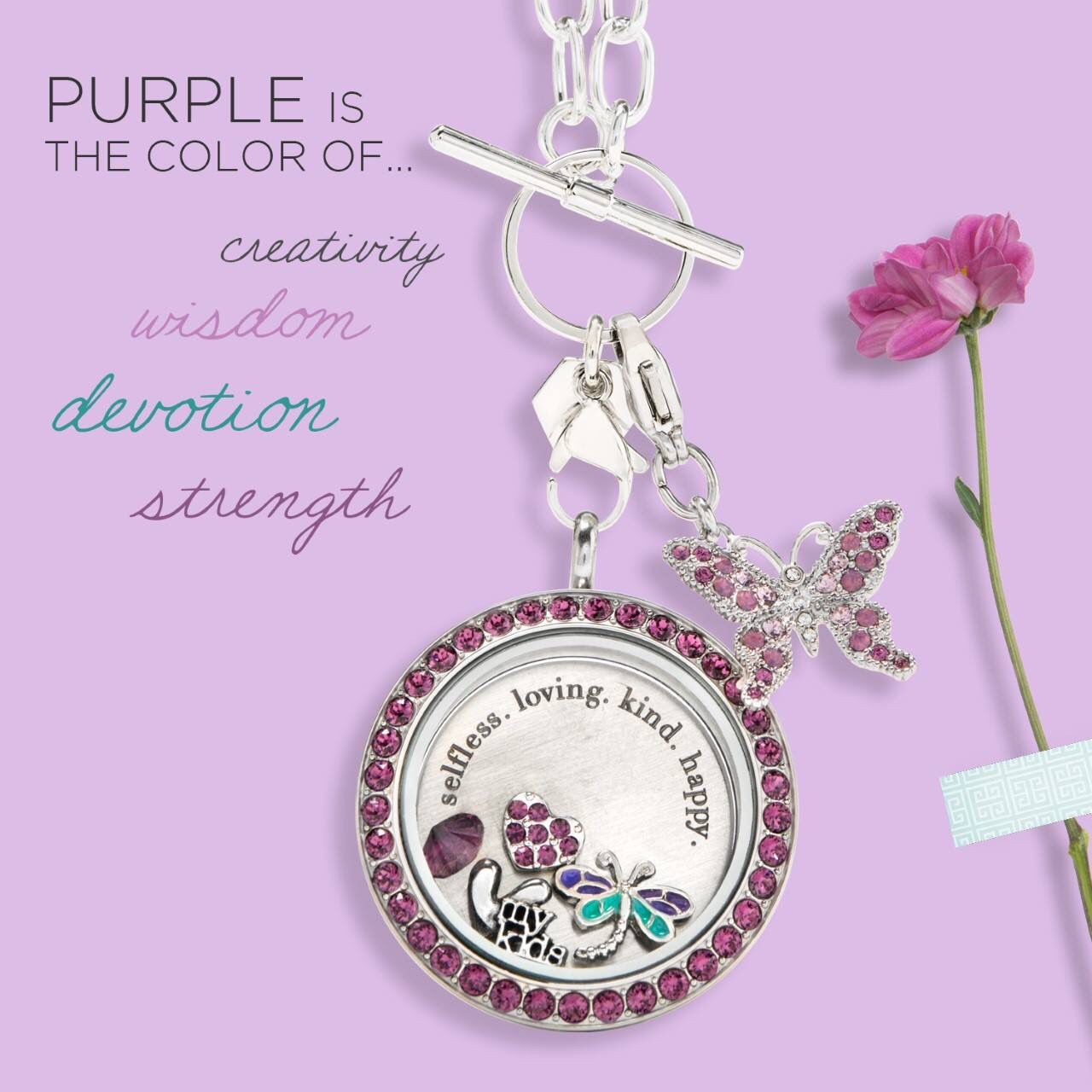 The color purple is symbolic of many meaningful attributes this the color purple is symbolic of many meaningful attributes this mothers day give her biocorpaavc Choice Image