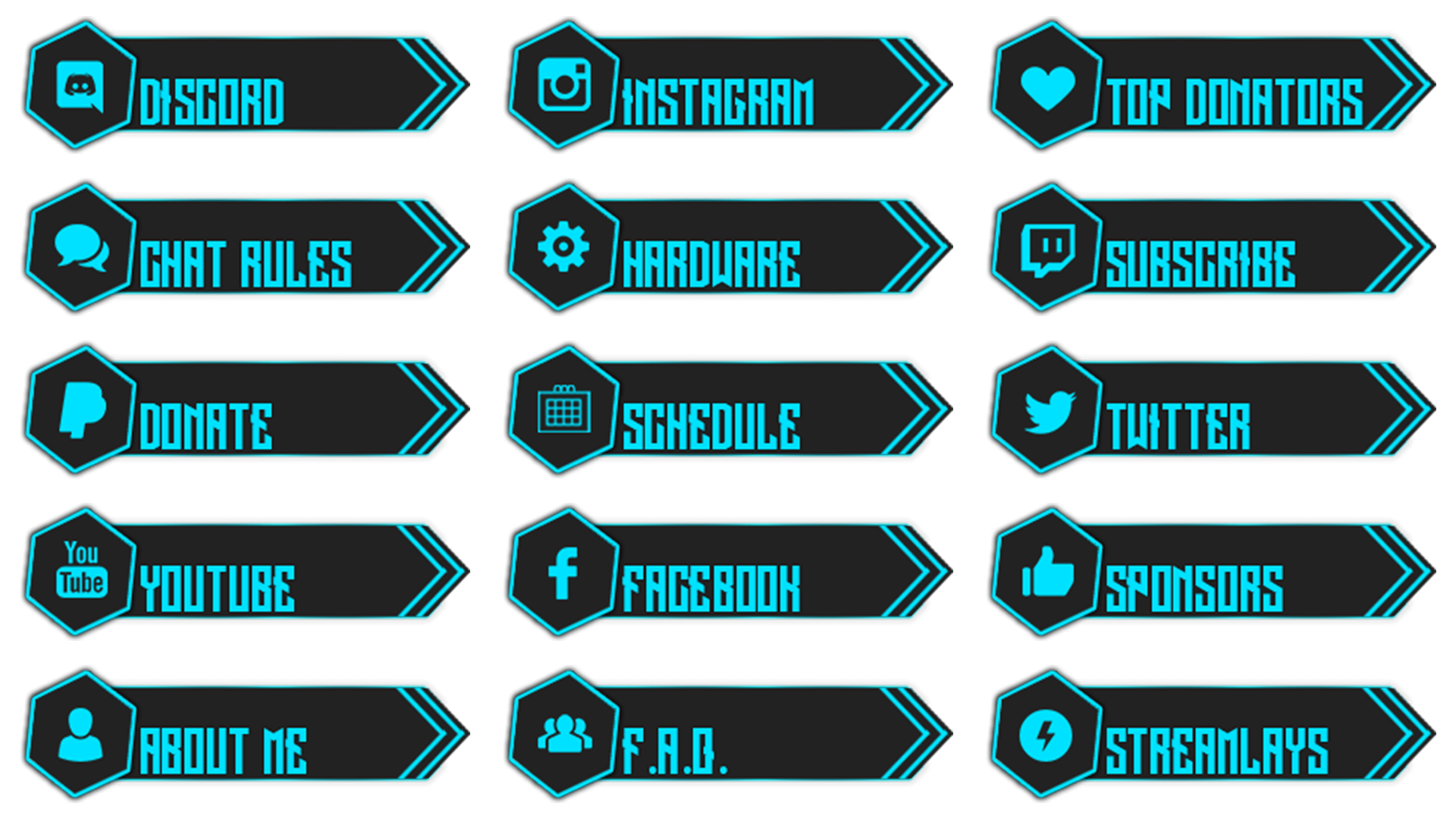 Check out our twitch panels selection for the very best in