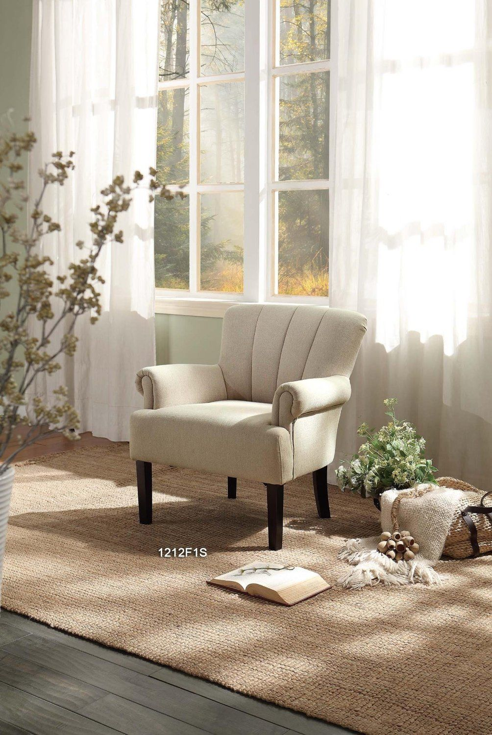 Best Amazon Com Homelegance 1212F2S Flared Arm Accent Chair 640 x 480