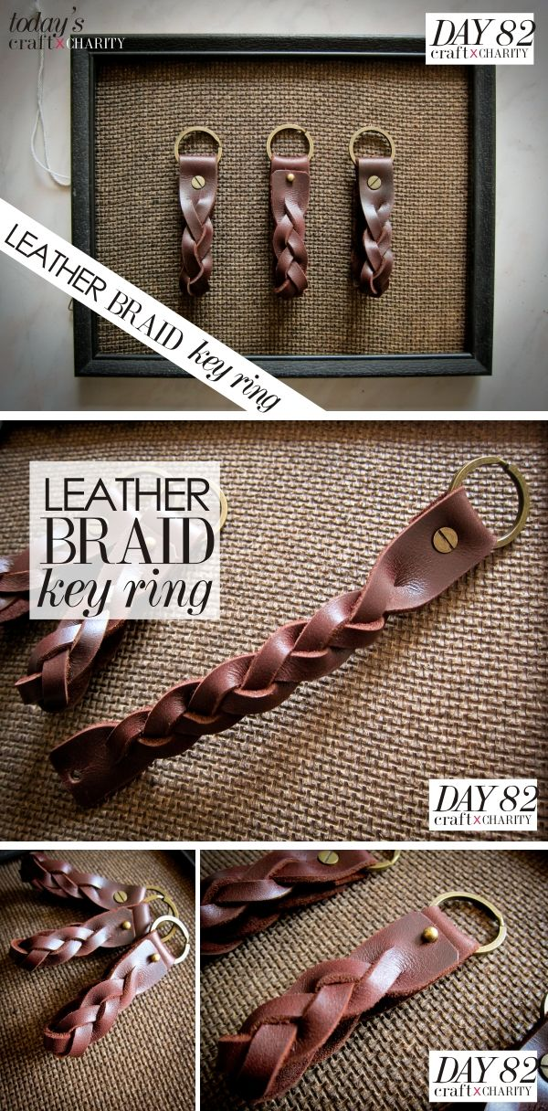 Day 82 - Leather Braid Key Ring