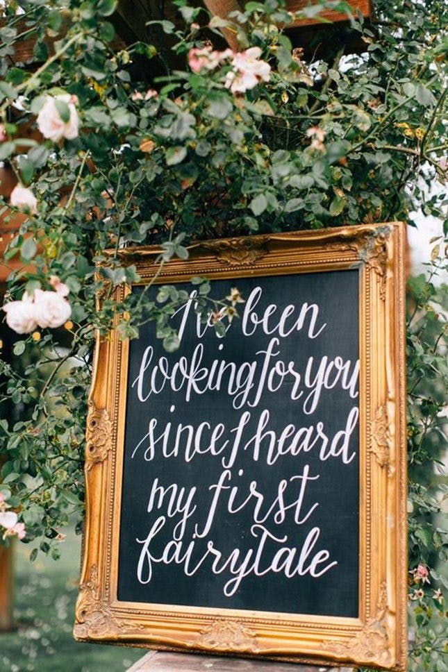 19 creative ways to use quotes in your wedding decor french 19 creative ways to use quotes in your wedding decor via brit co junglespirit Image collections