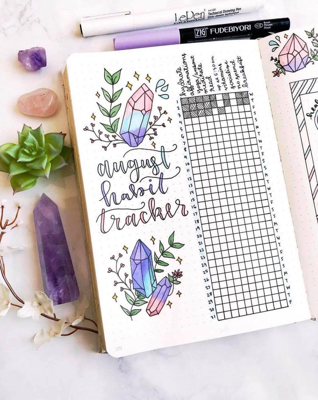 ig@plan.tful's amazing August habit tracker   bullet journal ideas #augustbulletjournal