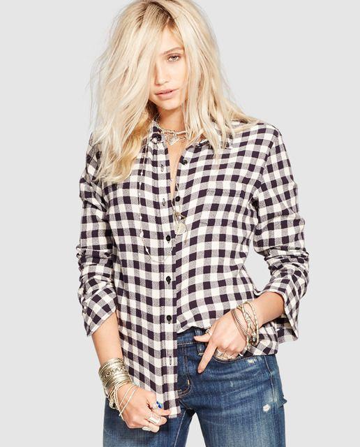 b83c74df120f Camisa de cuadros blanco y negro | OutFits! | Camisa de cuadros ...
