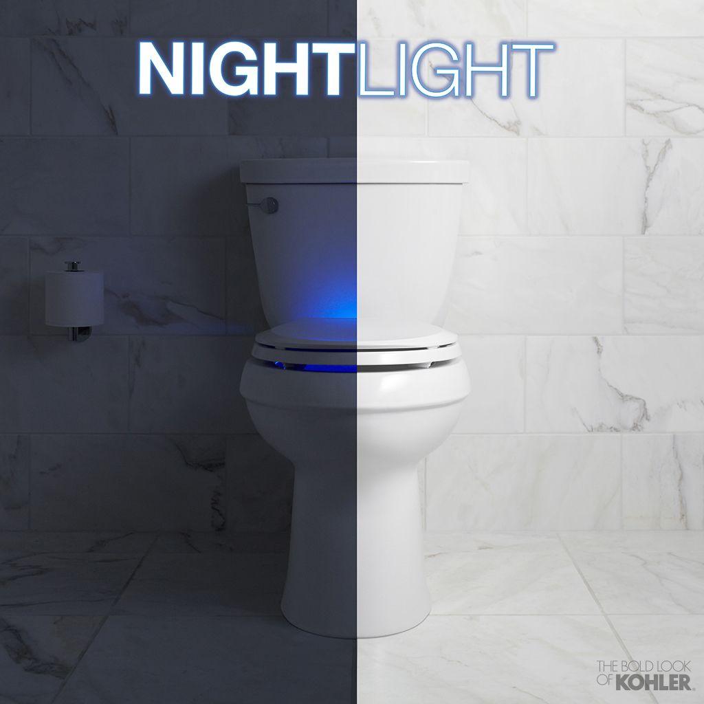 Tremendous The Kohler Nightlight Toilet Seat Provides Optimal Light Inzonedesignstudio Interior Chair Design Inzonedesignstudiocom