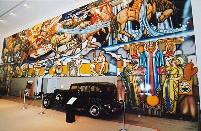 1939 new york worlds fair images   Ferro Ceramic mural from 1939 New York World's Fair